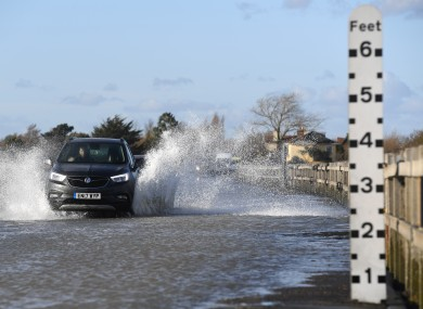 Flooding in the UK in the aftermath of Storm Ciara