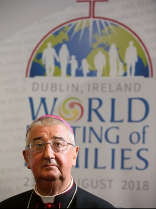 Archbishop of Dublin Diarmuid Martin at a press conference at the World Meeting of Families today in the RDS in August 2018.