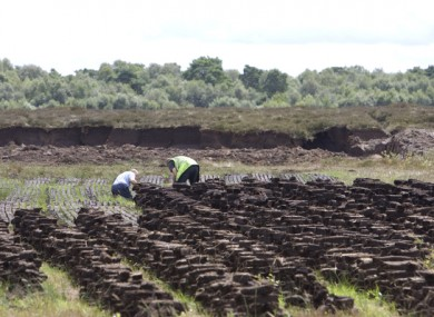 File image of turf being stacked in Co Offally.