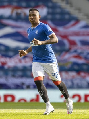 Rangers forward Alfredo Morelos.