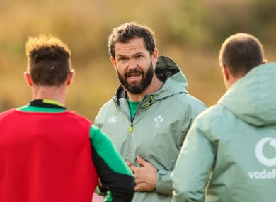 Farrell has made nine changes to his starting XV for this weekend.
