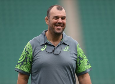 Michael Cheika during his time in charge of the Wallabies.