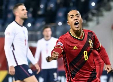 Youri Tielemans opened the scoring for Belgium.