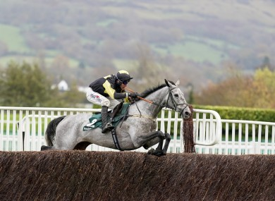 Eldorado Allen clears the last to win the Novices' Chase.
