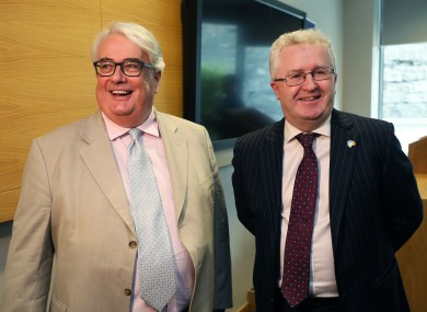 Chief Justice Frank Clarke with Seamus Woulfe.