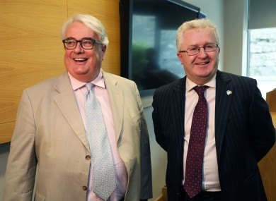 Chief Justice of Ireland Justice Frank Clarke (left) with Mr Justice Seamus Woulfe.