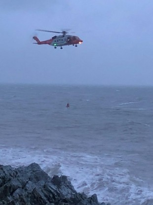 Image of the helicopter rescue today.