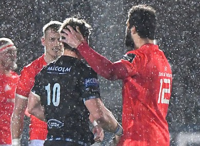 Conditions were tricky in Scotstoun.