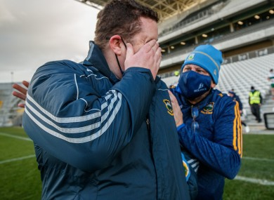 Tipperary manager David Power after the game.