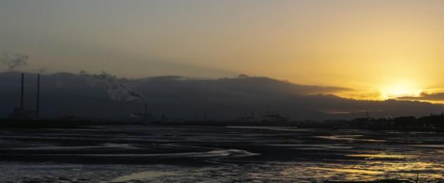 Sunset at Dublin Bay.