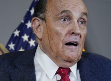 Giuliani's hair dye mishap featured heavily on social media
