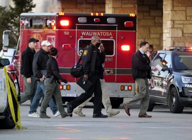 Emergency services respond to the incident in Wauwatosa