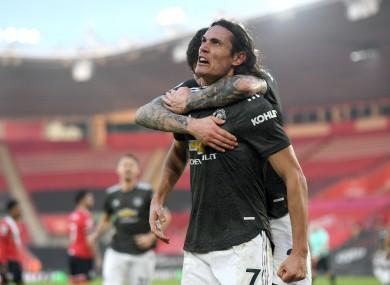 Cavani struck twice as United sealed a dramatic comeback.