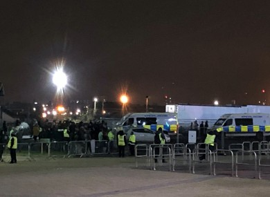 There were unsavoury scenes outside Celtic Park.