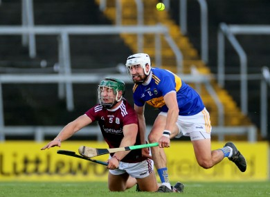 Galway's Fintan Burke and Patrick Maher of Tipperary.