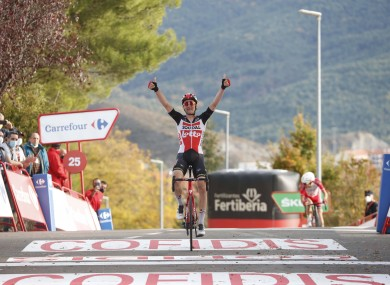 Belgium's Tim Wellens claimed his second stage victory at Vuelta today (file pic).