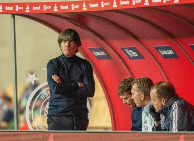 Loew watched his side go down 6-0 last night.