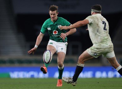 Burns set up Ireland's try last weekend with a clever chip.