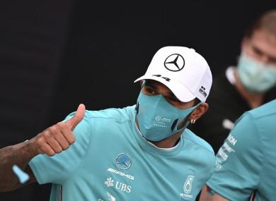 Lewis Hamilton (file pic).