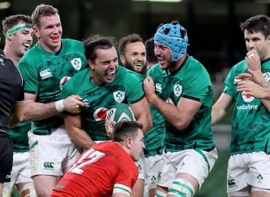 James Lowe scored for Ireland late on last night.