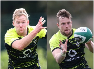 Kieran Marmion and Jack Carty are back in Connacht training.