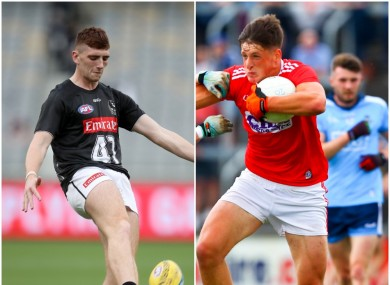 Collingwood's Mark Keane is on the bench for Cork as Colm O'Callaghan starts.