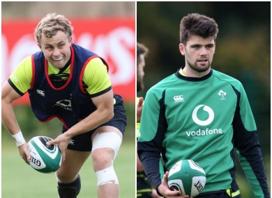 Craig Casey and Harry Byrne have trained with Ireland this year but aren't in the latest squad.