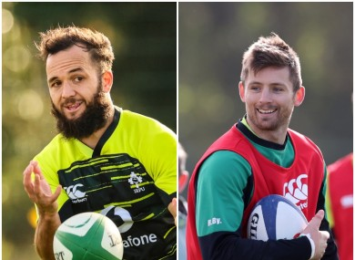 Jamison Gibson-Park and Ross Byrne are Ireland's starting halfbacks.