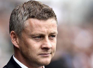 Ole Gunnar Solskjaer pictured as Cardiff boss in 2014.