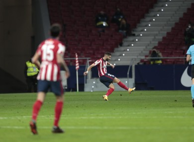 Yannick Carrasco takes the ball around Ter Stegen to score the game's decisive goal.