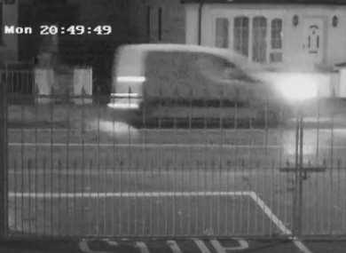 CCTV footage of the small white van's movements