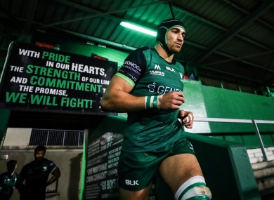 Dillane could make his 100th appearance for Connacht tomorrow.