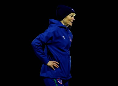 Ireland manager Vera Pauw at training earlier this week.