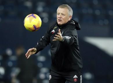 Sheffield United boss Chris Wilder during last night's match.
