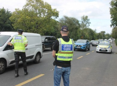 Gardaí conducting a rogue trader checkpoint in September of this year.