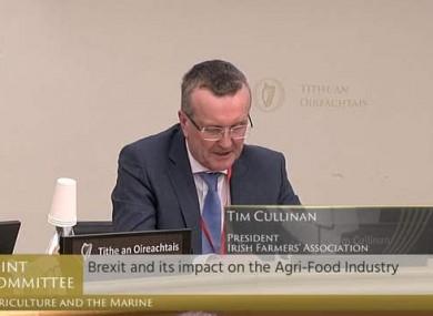 IFA president Tim Cullinan