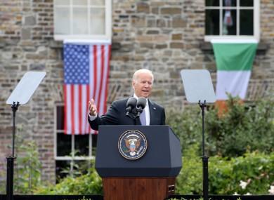 US-President Elect Joe Biden when he visited Ireland in 2016.