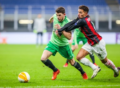 Celtic's Ryan Christie in action during the match.