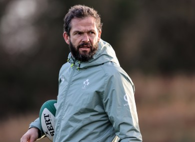Andy Farrell was in reflective mood yesterday as he looked back on 2020.