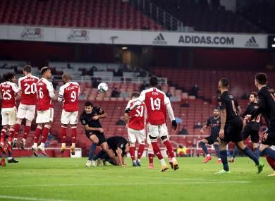 Riyad Mahrez scores City's second goal.