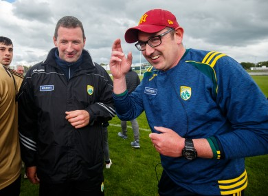 Kerry coach Brendan Cummins and manager Fintan O'Connor.