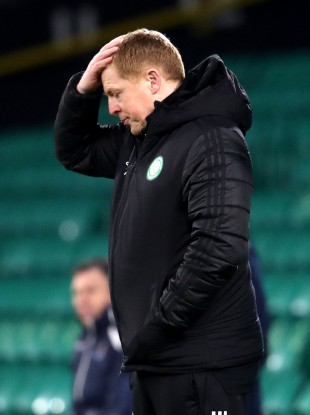 Celtic manager Neil Lennon pictured during his side's game against St Johnstone today.