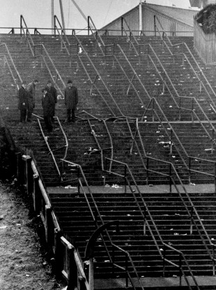 The crushed barriers at Ibrox Stadium in Glasgow, where 66 people died after the crowd disaster featured in one of our longreads of the year.