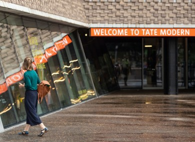 The boy was thrown from a 10th-storey balcony at the Tate Modern