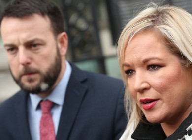 File image of Sinn Féin's Michelle O'Neill.
