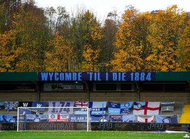 Wycombe's Adams Park will be among the first grounds to welcome back fans on Wednesday.