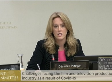 Desiree Finnegan, chief executive of Screen Ireland