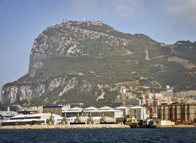 The Rock of Gibraltar seen from the sea