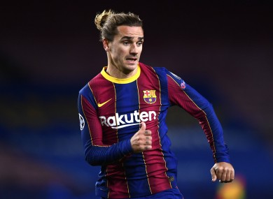 Antoine Griezmann lining out for Barcelona in the Champions League this week.