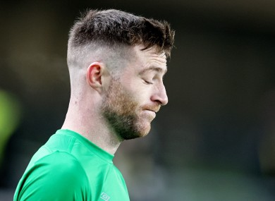 Jack Byrne after the game.